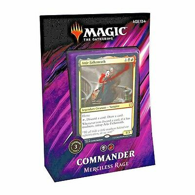 MTG - Magic The Gathering - Commander 2019 - Merciless Rage Deck -=NEW=-
