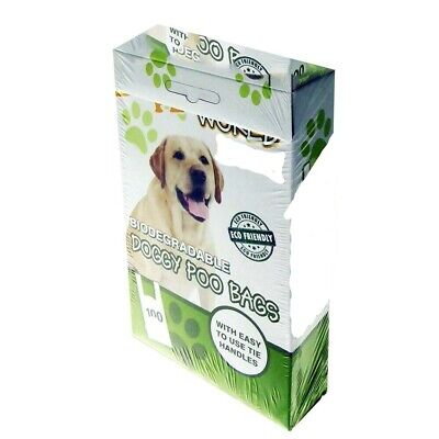 Dog Poo Bags 100 X Extra Thick Large Fragranced Biodegradable  Handle Dog Poo