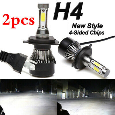Headlight Car 2019 New 4-Side H4 LED Bulbs 300W 36000LM High And Low Beam Bright
