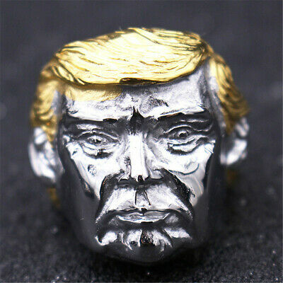 Silver Donald Trump Ring Gold US President Make America Great Again Great Leader