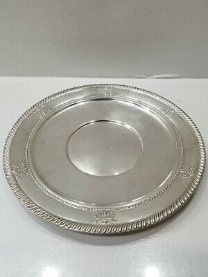 "Vintage M Fred Hirsch X300 11"" Solid 925 Sterling Silver Sandwich Serving Plate"