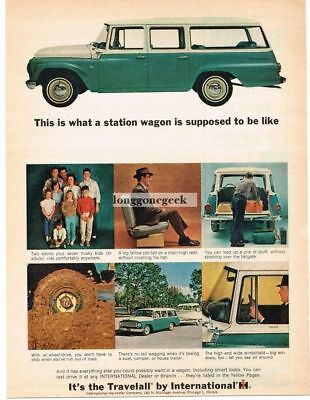 1964 International Harvester Travelall What a Station Wagon Should Be Vtg  Ad