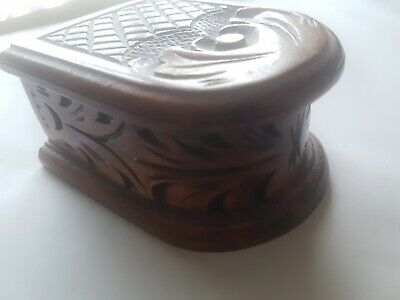 Lovely Antique Hand Carved Box Like A Mouse Coffin Very Unusual & Great Detail