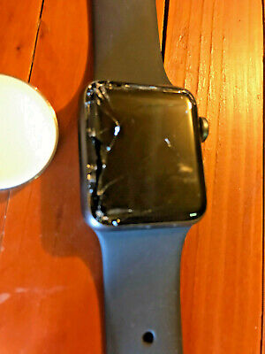 (Tested, WORKS) Apple Watch Series 3 (GPS+Cellular) 42mm Space Gray Aluminum