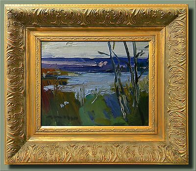 JOSE TRUJILLO FRAMED Oil Painting Impressionism Marsh - Ready to Hang - ORGINAL