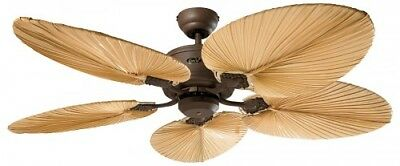 Energy saving Ceiling Fan with Remote Control Eco Element 132 cm Braun Palm Tree