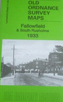 Old Ordnance Survey Maps Fallowfield & South Rusholme Lancs 1933 Godfrey Edition
