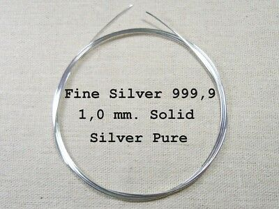 18 gauge 12 inches Sterling Silver Wire Hard 1mm Dia 0.3048 metre