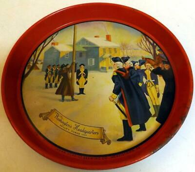 Vtg Valley Forge Beer 12-inch Round Tray Shows Washington's Headquarters c1950s