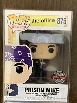Funko POP Television THE OFFICE PRISON MIKE HOT TOPIC Exclusive with Protector