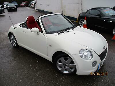 2005 Daihatsu Copen Roadster Rare White One With Heated Red Leather Seats . Conv