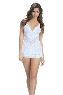Soft Cup Lacey Babydoll With Bows And G-String