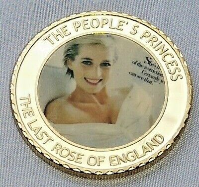Princess Diana Gold Coin Prince Candle in the Wind Royal Beautiful HRH London UK