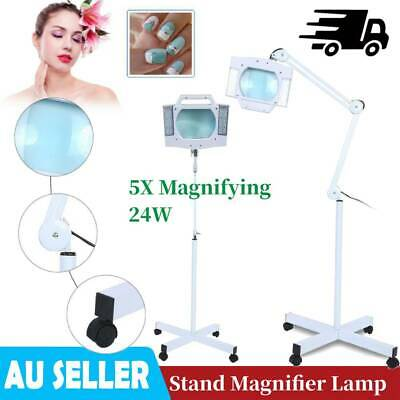 5X Magnifying LED Magnifier Stand Lamp Light Skincare Beauty Nail Manicure 24W