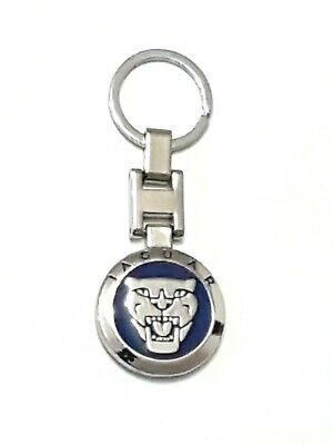 Jaguar Luxury Metal Keyring  Top Quality Blue Double Sided New