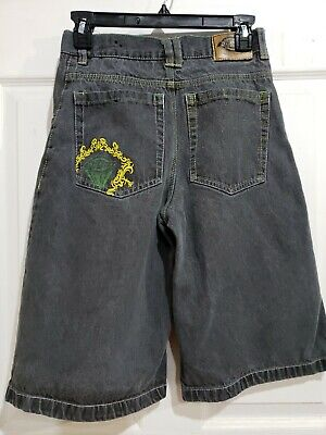 Dickies black jean shorts boys sz 16 - color   black