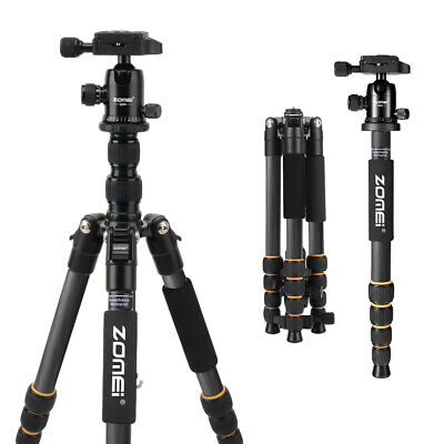 ZOMEI Q666 Portable Travel Tripod Monopod,360° Ball Head for Canon Nikon Camera