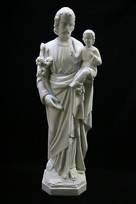 """25"""" Saint St Joseph with Baby Jesus Catholic Statue Sculpture Made in Italy"""
