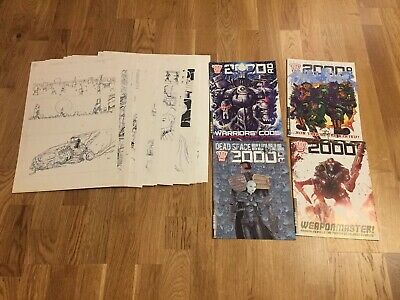 Original Comic Art 2000AD Judge Dredd Completed 24 Pages Story Dave Taylor