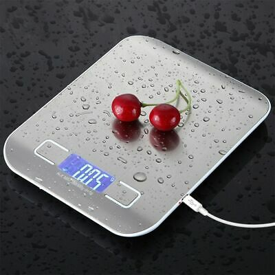 Digital USB Kitchen Scales Stainless Steel 10kg and 5kg for Diet Cooking Tool