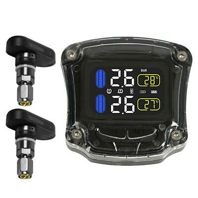 Motorcycle TPMS USB Powered Tire Pressure Monitoring System w/2 Internal Sensors