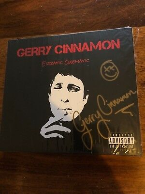 Gerry Cinnamon - Erratic Cinematic Cd, New, & Signed!!