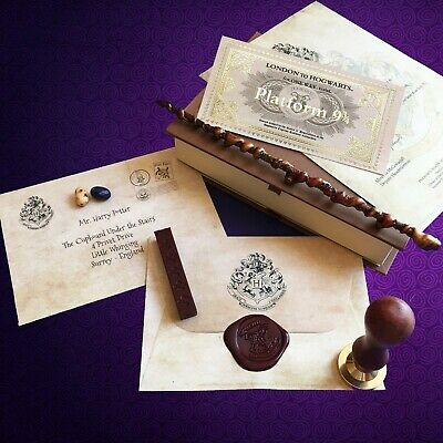 Harry Potter Personalised Hogwarts Acceptance Letter With Real Wax Seal And Wand