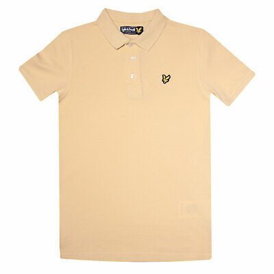 Junior Boys Lyle And Scott Classic Polo Shirt in Yellow.