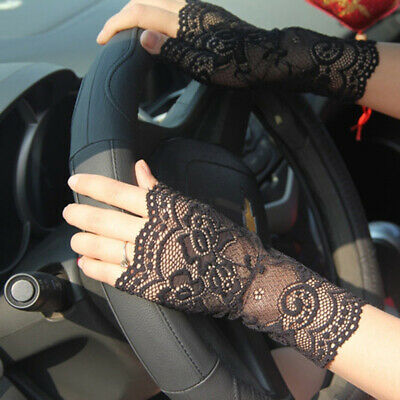 Women Sexy Fingerless Lace Driving Sunscreen UV Protection Party Gloves Dear