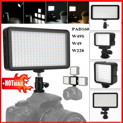 VBESTLIFE PAD160/W49S/W49/W228 On Camera LED Video Light Dimmable Photo Studio