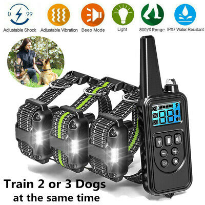 Anti Bark Dog Training Device Collar Stop Barking Rechargeable Remote&3 Receiver
