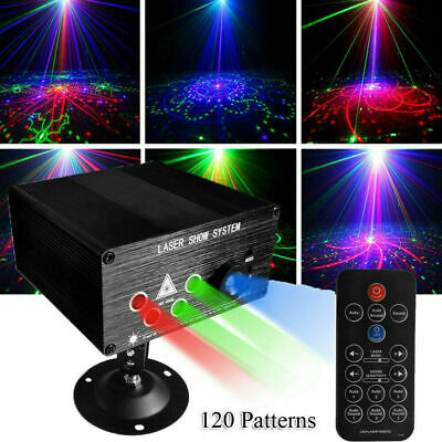 Laser Projector Stage Light LED 120 Patterns RGB Xmas Home Party KTV DJ Disco
