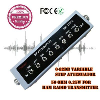 0 - 82DB Variable/step Attenuator,50 Ohm- Fox Hunt