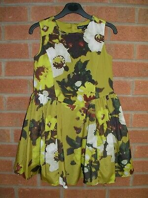 MARKS & SPENCER Autograph Girls Stunning Yellow Floral Party Dress Age 6-7 122cm