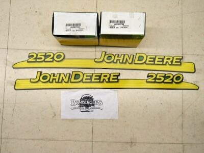 John Deere Hood Trim Decal Set - LVU802741 LVU802742 - 2520
