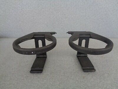 Genuine Porsche Pair Of Cup Holders for 911/996. Foldable. Clips onto Air-Vents