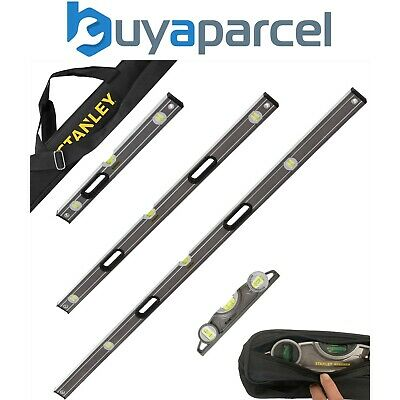 Stanley Fatmax Pro Box Beam Pro Spirit Level Set 4pc - 250 600 1200 1800mm + Bag