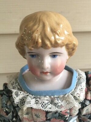 """15"""" Antique Pink Tint China Doll"""