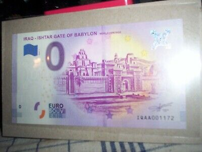 Rare Billet Touristique Euro Souvenir  Iraq Ishtar Gate Of Babylon  Iqaa001172