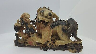 Antique Carved Asian Stone Dragon