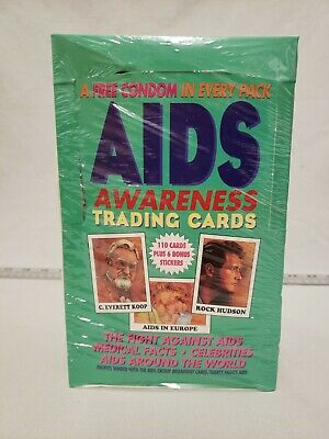 AIDS Awareness Trading Cards Complete 36 Booster Pack Box SEALED 1993