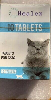 10 Healex Dewormer Tablets For Cats with Tapeworm & Roundworm