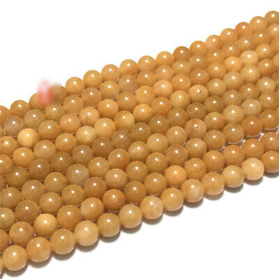 8mm Natural Round Topaz Loose Beads Making Jewelry 15 inches Diy Gemstone Spacer