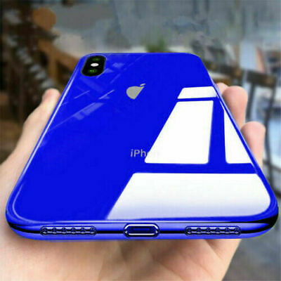 Tempered Glass Phone Case For iPhone XS XR 7 8 Plus Cover Luxury TPU Hard Cases