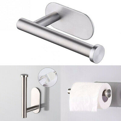 1X Self Adhesive Wall-Mount Bathroom Toilet Paper Holder Rack Tissues Roll Stand