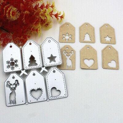 Christmas Cards Tag  Cutting Dies Embossing Stencil DIY Craft Making Tool