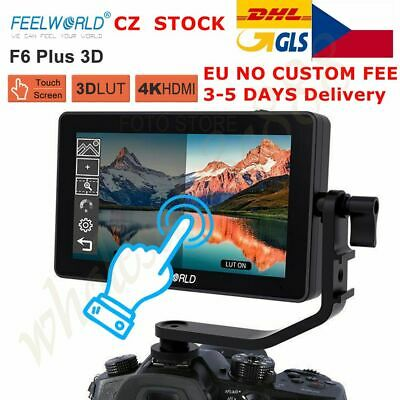 "FEELWORLD F6 Plus 5.5"" IPS Touch Screen 3D Video Camera DSLR Monitor 4K HDMI"
