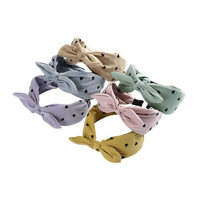 Ladies Wide Ear Headband Hairband Bow Knot Alice Band Head Wrap Hair Accessories