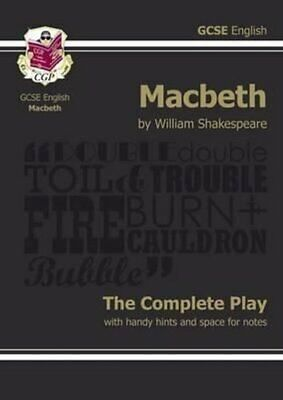 Grade 9-1 GCSE English Macbeth - The Complete Play 9781841461205 | Brand New