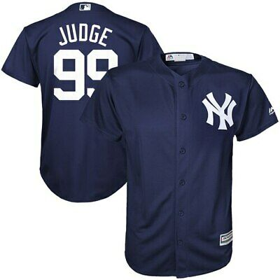 Majestic Aaron Judge New York Yankees Youth Navy Cool Base Player Jersey